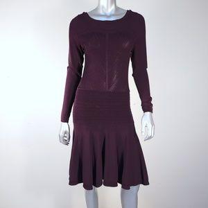 diane von furstenberg ∙ delta knit flounce dress